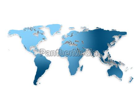 world map 3d embros dark blue