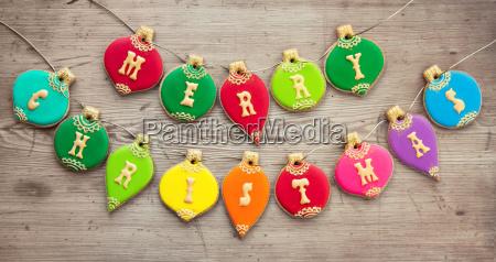weihnachtskugel cookies