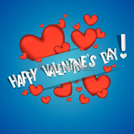 happy valentines day card with red