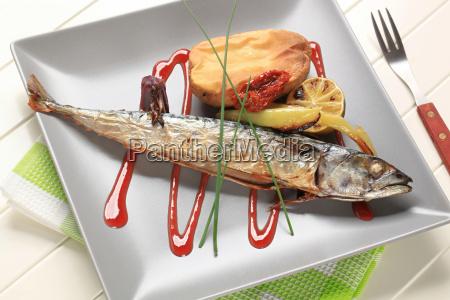 einfache gebackene makrele rezept