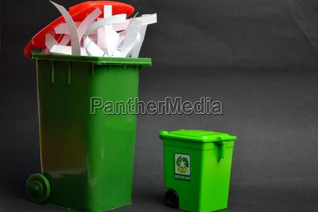 altpapiertonne und recycling