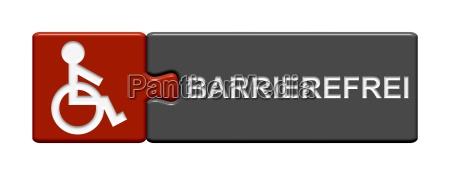 rollstuhl, knopf, button, frei, zugang, barriere - 10295687