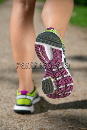 sport shoes while running jogging sports