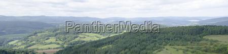 panorama der landschaft in mitteldeutschland