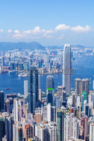 blick, auf, die, stadt, hongkong - 10303961