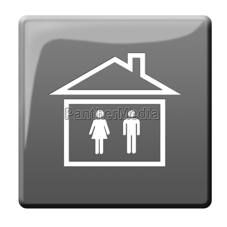 toilettenhaus symbol button