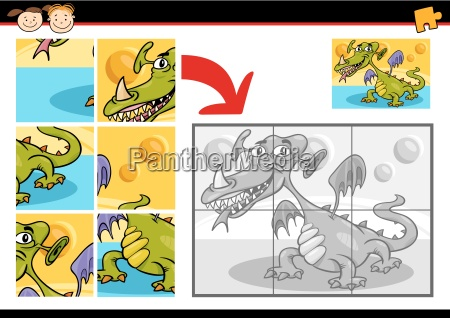 cartoon monster jigsaw puzzle game