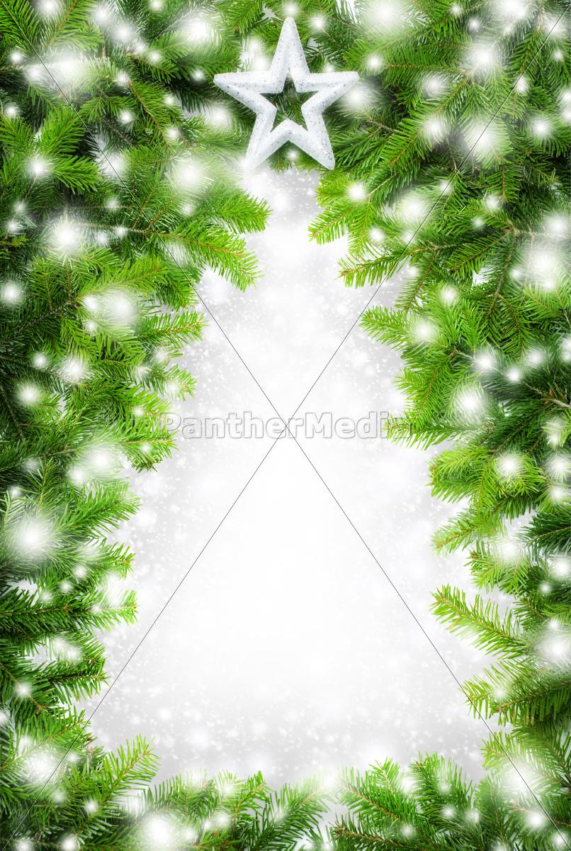 kreativer rahmen weihnachtsbaum im schnee lizenzfreies bild 10318069 bildagentur. Black Bedroom Furniture Sets. Home Design Ideas
