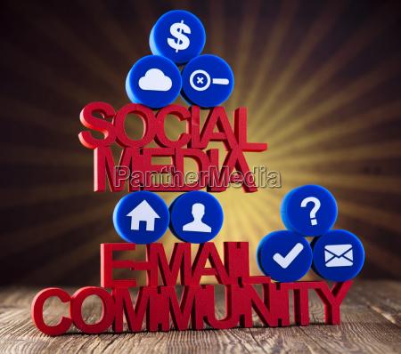 social media kommunikation internet konzept