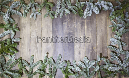 wood background christmas branches