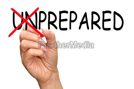 vorbereitet business concept