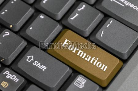 formation on keyboard
