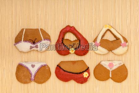lustige bunte bikini form von lebkuchen