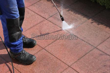 dampfstrahler terrasse reinigen