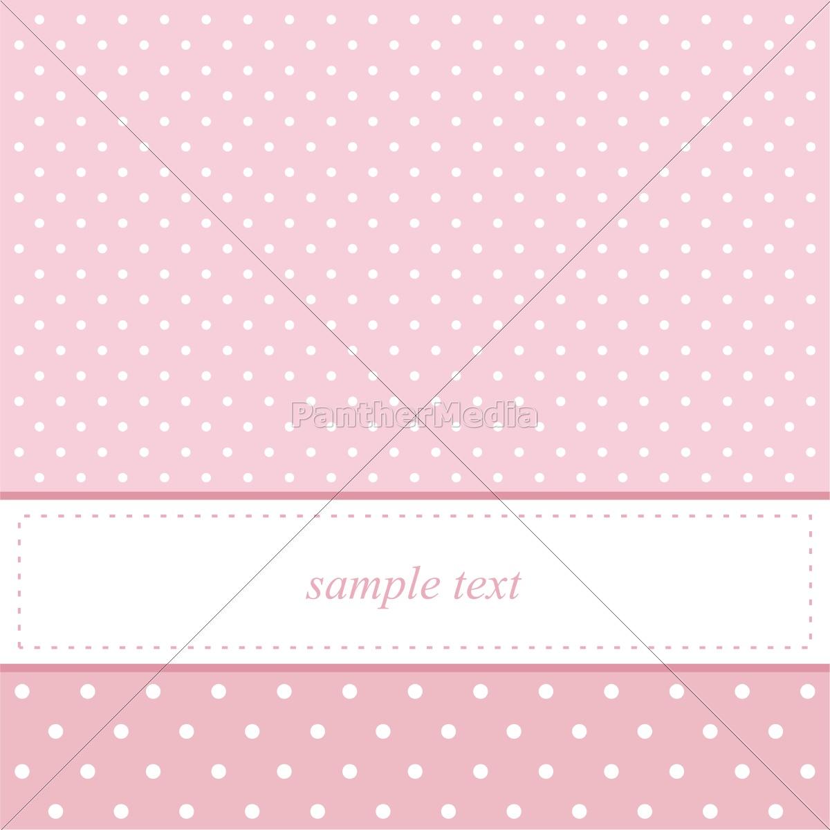 Lizenzfreie Vektorgrafik 10468089   Rosa Vektor Karte Einladung Für Eine  Babyparty Oder .