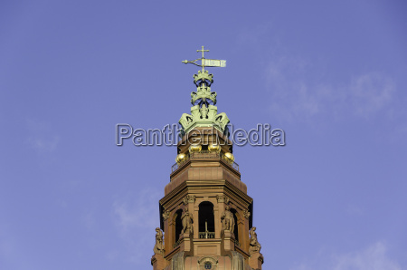 tower of christiansborg castle the danish