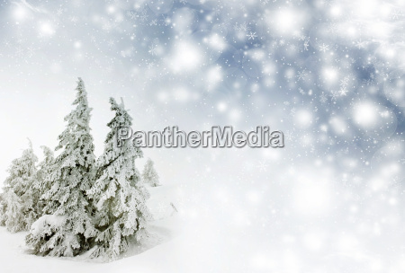 christmas background with stars and snowy