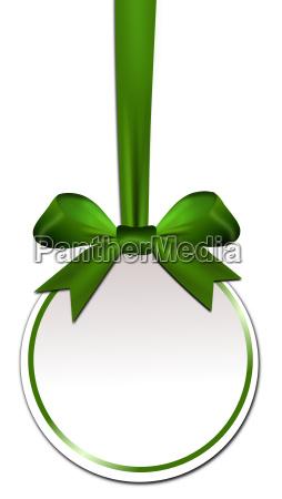 dekorative runde mit gruenem bogen
