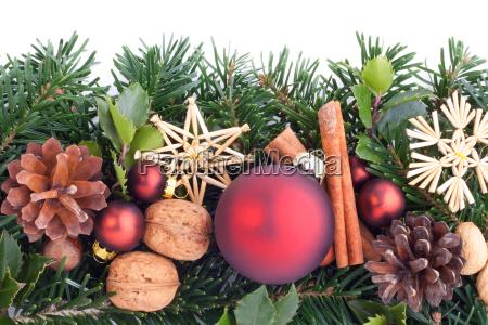 red christmas tree balls christmas tree