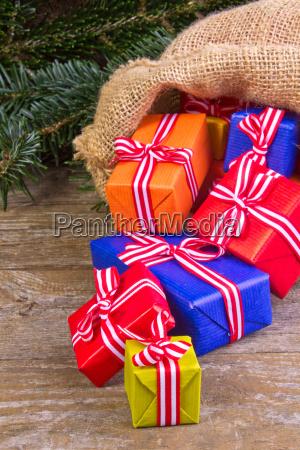 christmas red blue orange yellow