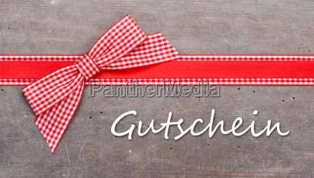 voucher christmas red white checked loop