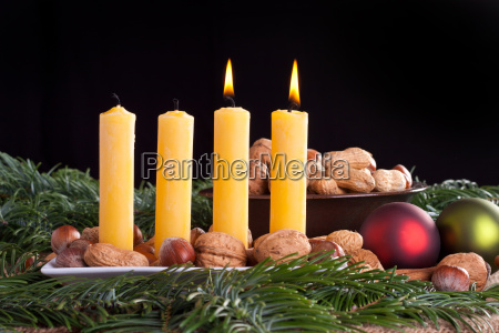 advent second two candle burn flame