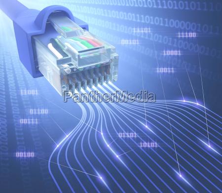 rj45 netzwerk binaer