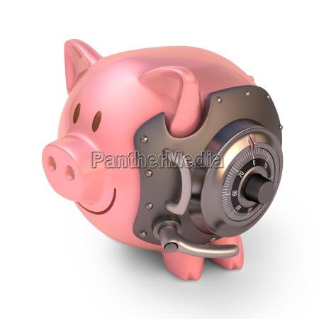 piggy bank shield