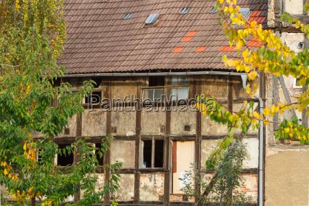welterbestadt quedlinburg altes fachwerk am verfall
