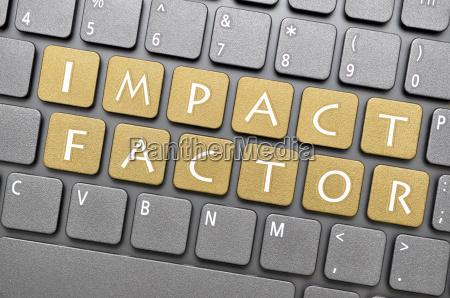 impact factor key on keyboard
