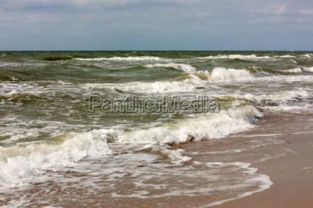surf at the baltic sea beach
