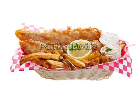 kabeljau und chips