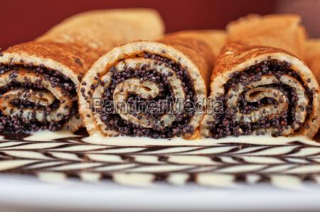 pfannkuchen, mit, mohn - 10559845