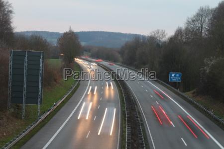 dusk on a highway