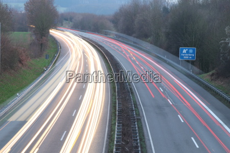 a highway in the evening