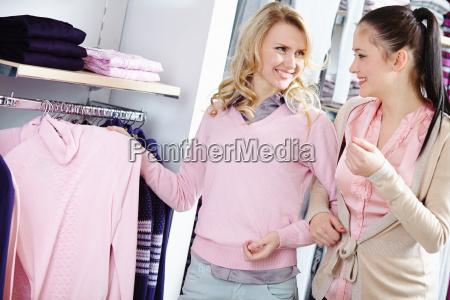 choosing new pullover
