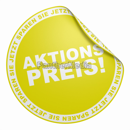 3d sticker yellow promotional price