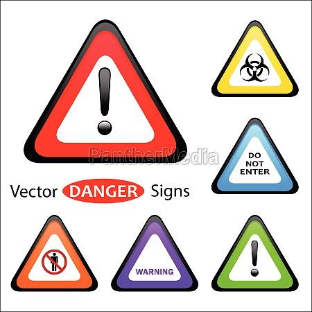 segnale pericolo cautela attenzione avvertimento punto