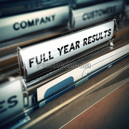 full year financial results concept