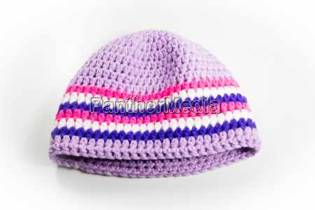wool cap with stripes