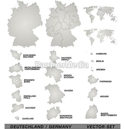 grenzkarte von deutschland mit grenzen in