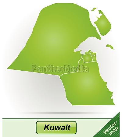 grenzkarte von kuwait mit grenzen in