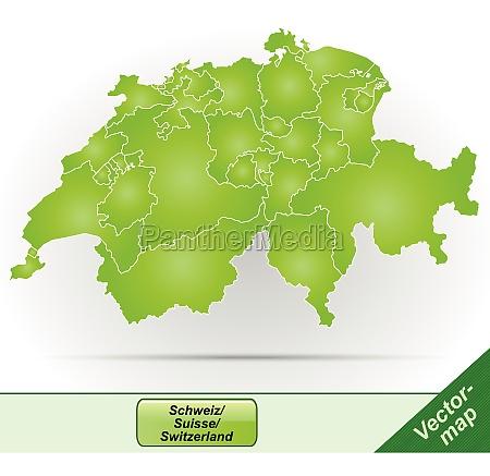 grenzkarte von schweiz mit grenzen in