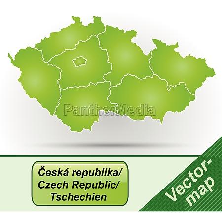 grenzkarte von tschechien mit grenzen in
