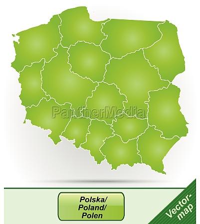grenzkarte von polen mit grenzen in