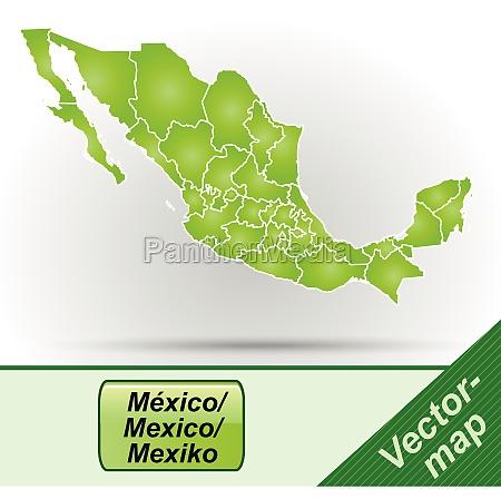 grenzkarte von mexiko mit grenzen in