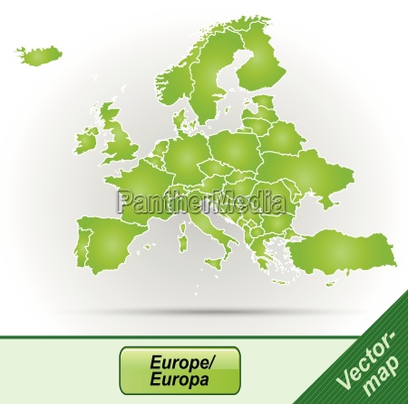 grenzkarte von europa mit grenzen in