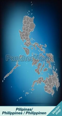 grenzkarte von philippinen mit grenzen in