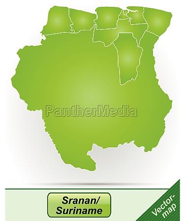 grenzkarte von suriname mit grenzen in
