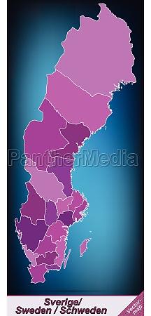 grenzkarte von schweden mit grenzen in